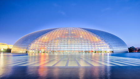 Beijing, China - April 14, 2017: The National Centre for the Performing Arts in Bejing city, China.