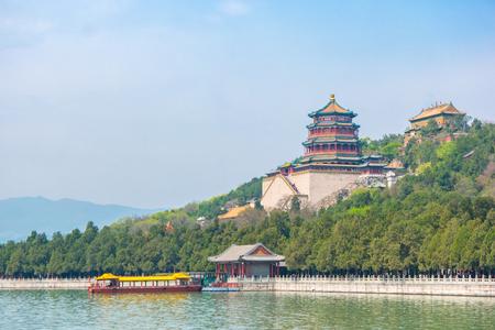 Le point de repère du Palais d'été de Pékin, en Chine.