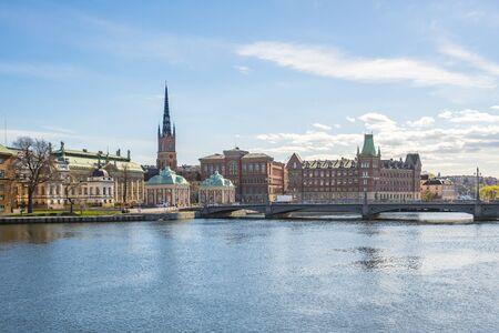 Stockholm vieille ville en Suède.