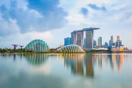 Vue de Marina Bay dans la ville de Singapour.