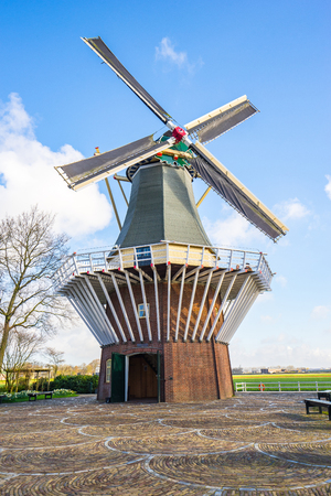 The Windmill of Kuekenhof garden in Amsterdam, Netherlands. Banque d'images