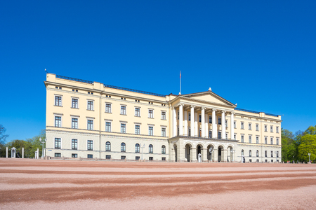 Royal Palace in Oslo city, Norway. Éditoriale