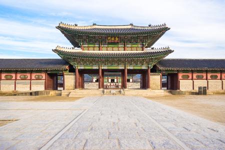 Gyeongbok Palace in Seoul, South Korea. Éditoriale