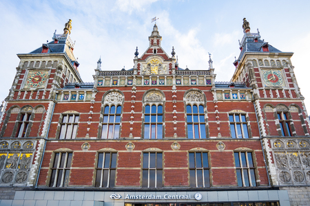 Amsterdam Centraal train station in Amsterdam, Netherlands