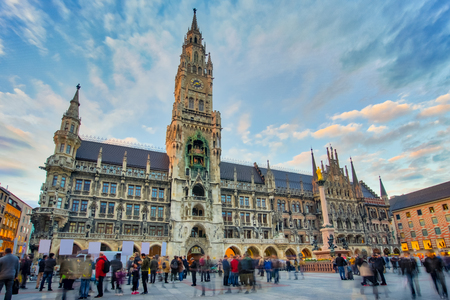 The new town hall in Munich, Germany. Banque d'images