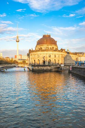 Museum Island at sunset in Berlin city, Germany.