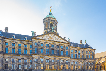 The Royal Palace in Amsterdam city, Netherlands.