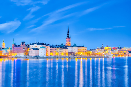 Skyline of Stockholm city in Sweden. Stock Photo