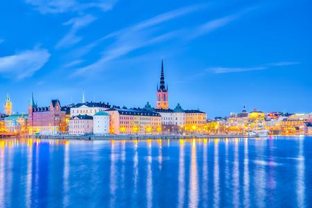 Skyline of Stockholm city in Sweden. Banque d'images