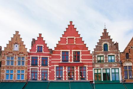 The Market Square in Bruges, Belgium.