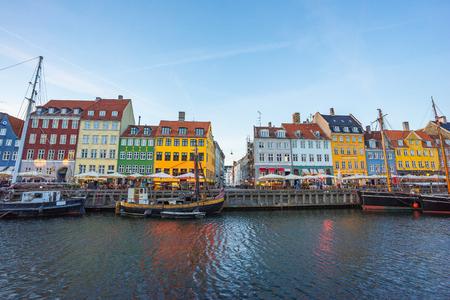 The old house of Nyhavn in Copenhagen, Denmark.