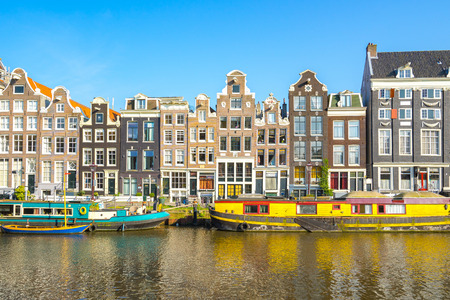 Amsterdam cityscape with the old building in Amsterdam city, Netherlands. Banque d'images