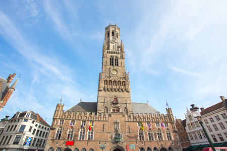 The Belfry of Bruges in Bruges, Belgium.