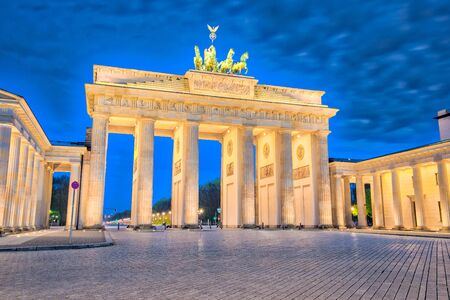 Brandenburger Tor in Berlin, Germany at night.