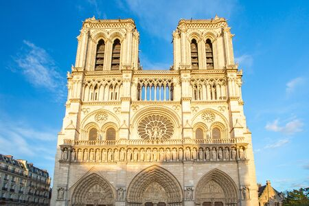 Notre Dame Cathedral in Paris city, France.