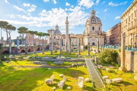 Trajans Forum landmark of Rome, Italy.