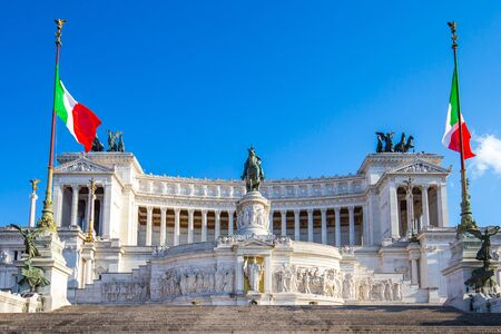 The Altar of the Fatherland landmark in Rome, Italy.