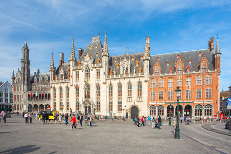 The Province Court in Market Square in Bruges, Belgium.
