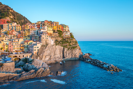 Manarola village one of Cinque Terre in La Spezia, Italy. Editorial