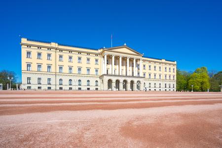 Oslo Le monument du Palais Royal à Oslo, en Norvège.