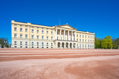Oslo The Royal Palace landmark in Oslo city, Norway.