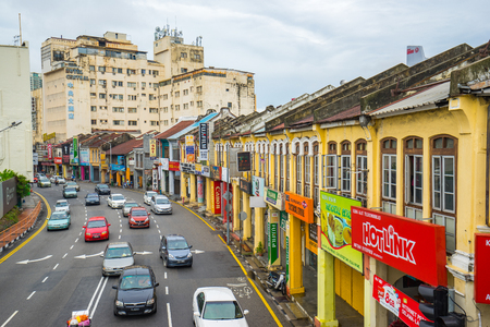 Penang, Malaysia - May 21, 2016: George Town world heritage in  Penang, Malaysia. Éditoriale