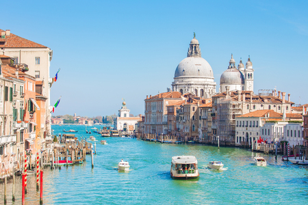 Venice city and Grand Canal in Venice, Italy.