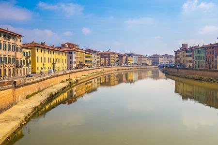 Ville de Pise en Toscane, Italie. Éditoriale