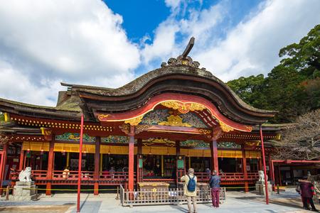 Salle principale du sanctuaire Dazaifu Tenmangu à Dazaifu, Fukuoka, Japon.