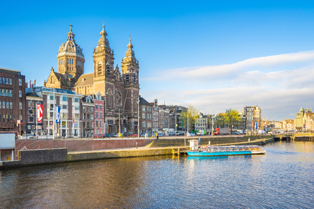 The Basilica of St. Nicholas in Amsterdam city, Netherlands.