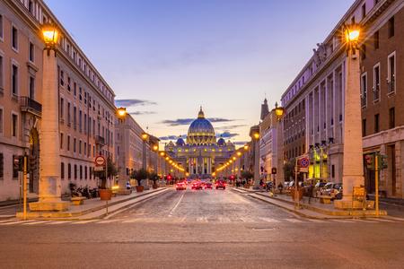 La rue de la ville du Vatican à Rome, en Italie.
