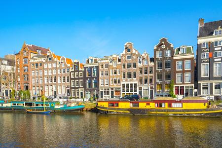 Style de maison hollandaise dans la ville d'Amsterdam, Pays-Bas.