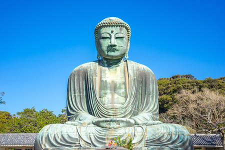 Daibutsu the great buddha at kotokuin temple in Kamakura, Kanagawa Prefecture, Japan.