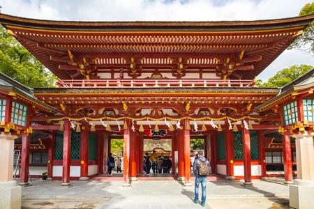 Temple Tenmangu à Dazaifu, Fukuoka, Japon. Éditoriale