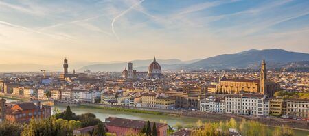 Panoramic view of Florence city skyline in Tuscany, Italy.