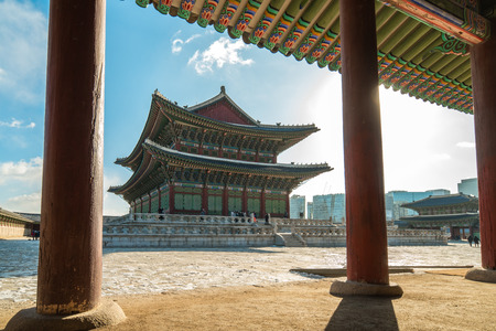 Gyeongbokgung Palace in Seoul city, South Korea. Éditoriale