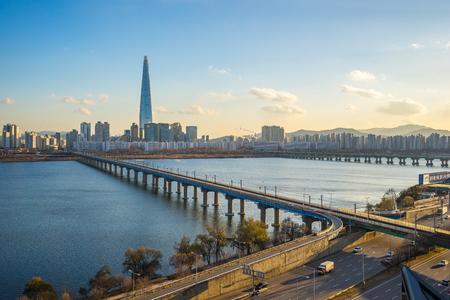 Seoul cityscape skyline in Seoul, South Korea.