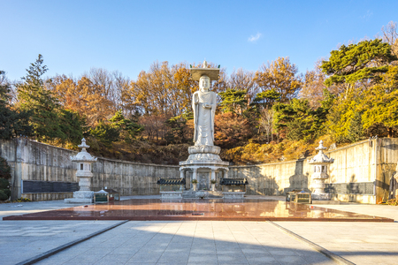 The Big Buddha in Bongeunsa Temple, Seoul, South Korea.