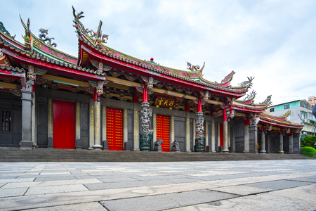 Xingtian Temple landmark in Taipei city, Taiwan. Banque d'images