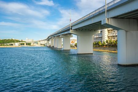 Tomari Port in Okinawa, Japan. Banque d'images