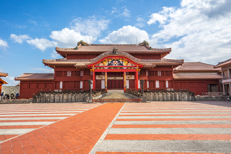 Shuri Castle landmark of Naha, Okinawa, Japan. 版權商用圖片