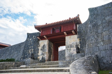 Shuri Castle landmark of Naha, Okinawa, Japan. Éditoriale