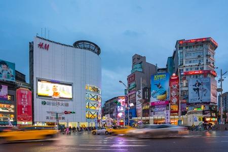 Taipei, Taiwan - November 25, 2017: Ximending a neighborhood and shopping district in Taipei, Taiwan. Éditoriale