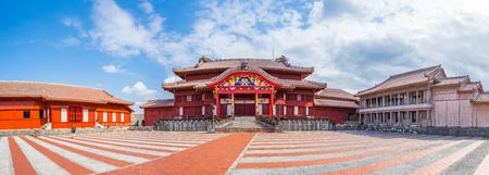 Panorama view of Shuri Castle in Naha, Okinawa, Japan.