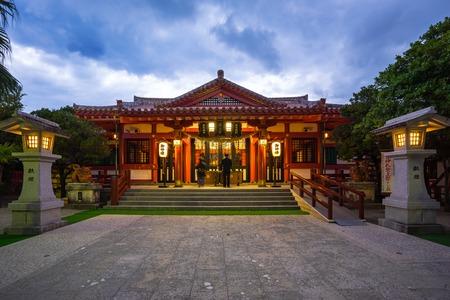 Twilight at Naminoue Shrine in Naha, Okinawa, Japan.