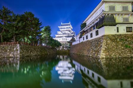 Kokura Castle in Kitakyushu at night in Kokura, Japan.