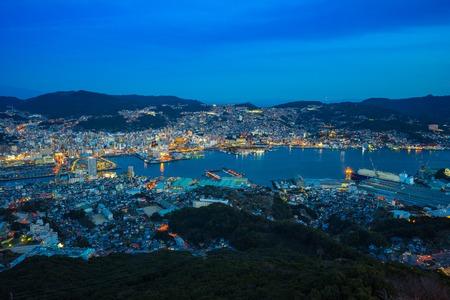 View from Inasa Mount in Nagasaki, Japan.