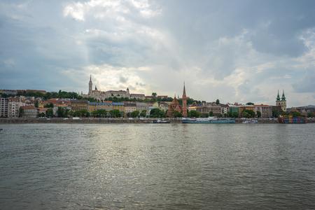 Budapest city skyline in Budapest, Hungary. 写真素材