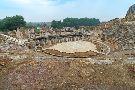 Ephesus amphitheatre in Selcuk, Izmir Turkey. Stock Photo