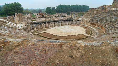 Amphitheatre of Ephesus in Selcuk, Izmir Turkey.